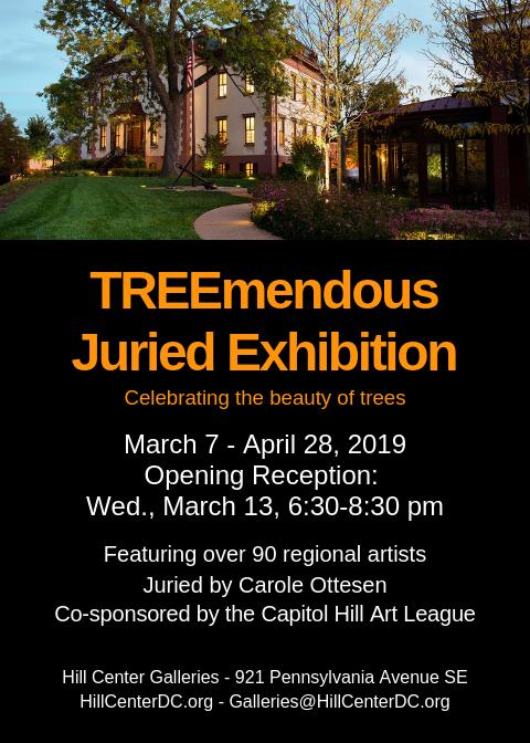 TREEMENDOUS JURIED SHOW 2019 Show Card