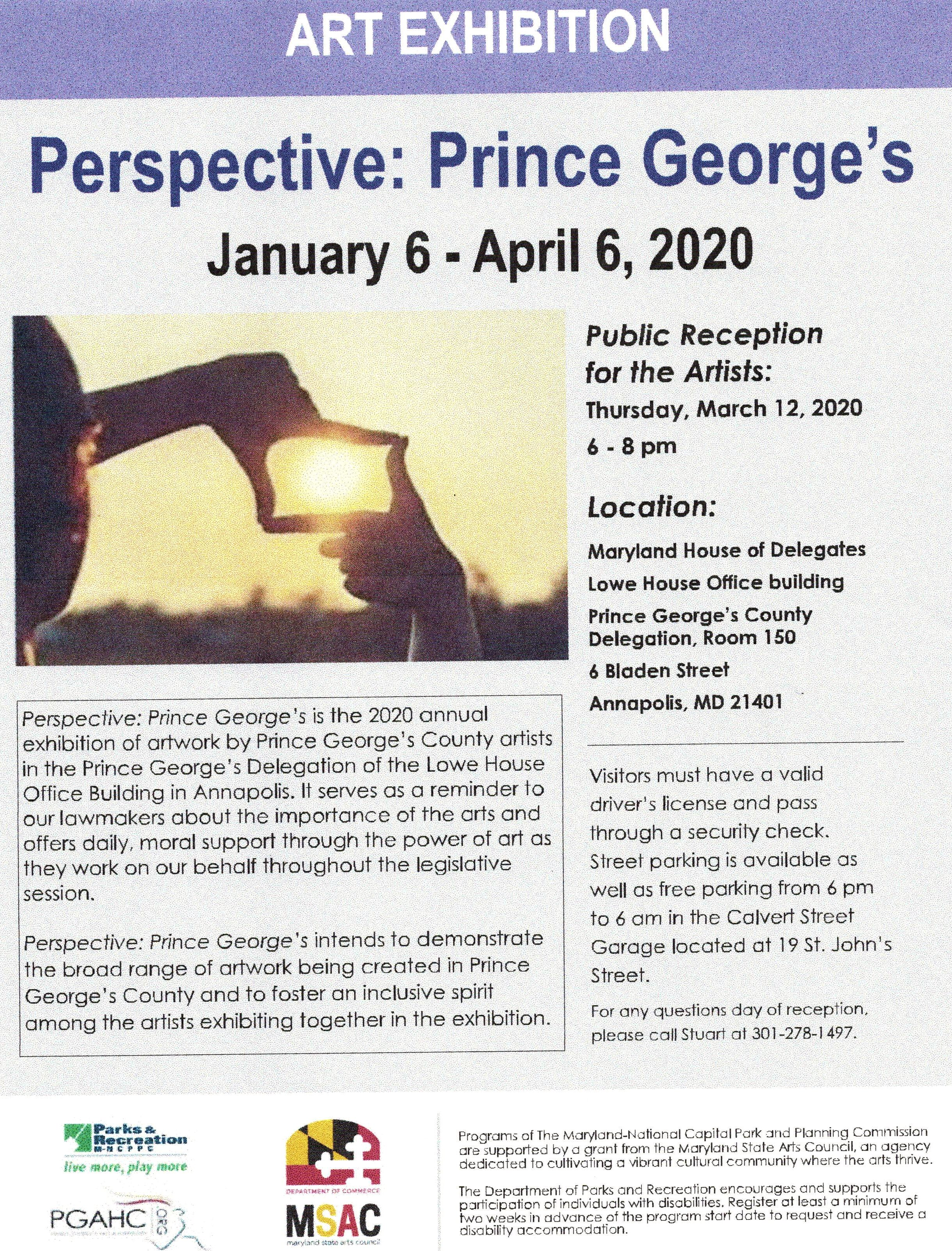 Perspective art exhibit